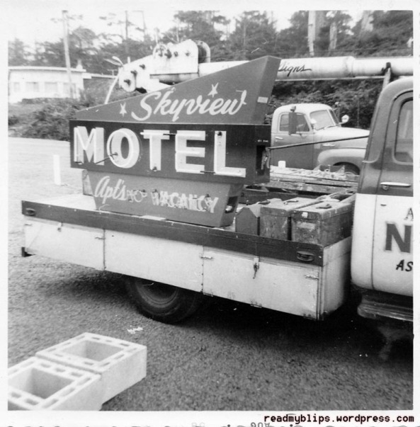 Skyview Motel, Location Unknown, 1958
